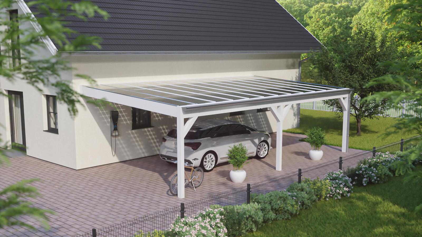 Solarcarport durch die Sonne finanziert